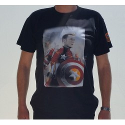 T-SHIRT MAN CAPTAIN AMERICA