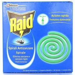 RAID INSETTICIDA SPIRALI ANTIZANZARE 10 PZ