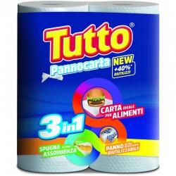TUTTO CARTA CUCINA ASCIUGATUTTO PANNOCARTA 2 ROTOLI 3IN1