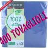 TOVAGLIOLI COLORE BLU 38X38 2 VELI 400  TOVAGLIOLI